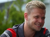 Magnussen had some fun in charge to points for Haas