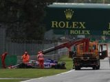 """Russell Critical of Recovery Truck Dispatch at Monza: """"There's no need to take the unnecessary risk"""""""