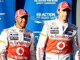 Button: Hamilton a bit weird during spell as McLaren F1 team-mates