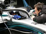WATCH: The view from behind the Halo in the Mercedes W09