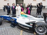 Pope Francis blesses Formula E car ahead of Rome ePrix