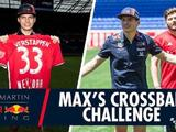Video: Max Verstappen takes on the crossbar challenge for charity
