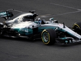 Bottas completes first laps with Mercedes