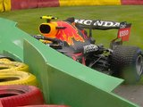 Perez out of Belgian GP after crash en route to the grid