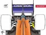 McLaren 2018 F1 car's innovative rear suspension