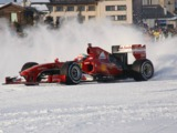Video: Giancarlo Fisichella completes snowy Ferrari demo in Italy