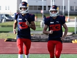 In photos: Red Bull pair try American football