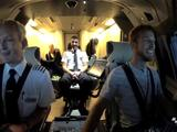 Jenson Button tries out British Airways flight simulator