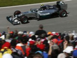 Rosberg happy to salvage second after drama