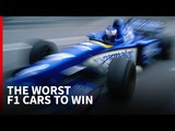 Video: The 10 worst F1 cars to win a Grand Prix