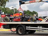 Verstappen sets pace then crashes out of Belgian GP practice