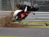Ericsson unscathed in violent Italian GP crash