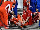 Injured Ferrari mechanic recovering after successful surgery on broken leg