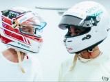 Hamilton and Vettel Exchange Helmets After F1 Season Finale