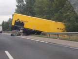 Formula 1 truck crashes on its way to Hungarian GP!
