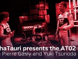 Video: AlphaTauri presents the AT02 with Gasly and Tsunoda