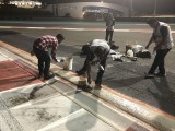 Abu Dhabi GP Turn 20 sausage kerb being modified after F1 practice