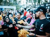Lewis Hamilton Signaled The Start Of Charity Race in Kuala Lumpur, Malaysia