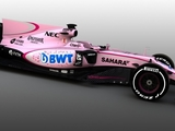 Force India presents pink livery for 2017