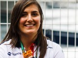 Tatiana Calderon makes F1 debut at Sauber filming day