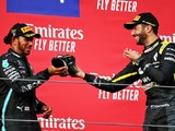 "Sharing shoey with Hamilton on Imola F1 podium ""majestic"" - Ricciardo"