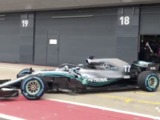 Video: Bottas' takes the Mercedes W09 out for a spin