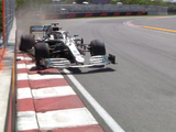 Hamilton punctures Mercedes with heavy hit into wall!