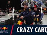 Video: Max Verstappen and Daniel Ricciardo crazy cart the factory