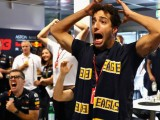 Daniel Ricciardo celebrates as West Coast claim AFL Grand Final