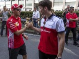 Ferrari's Vettel doesn't 'anything wrong' on F1 track with Leclerc