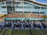 Mercedes celebrates fifth consecutive title double