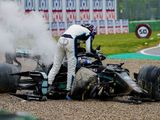 Russell apologises for Bottas collision in social media post
