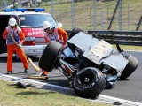 Perez escapes injury after Hungaroring flip