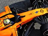 Three McLaren team members treated after small fire