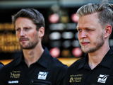 Magnussen and Grosjean grilled in press conference
