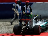 Lewis Hamilton takes pole after dramatic end to qualifying