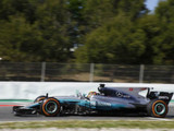 Mercedes duo continue to set Barcelona pace