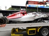 Marcus Ericsson walks away from huge FP2 crash at Monza