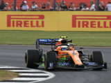 McLaren has a strong day around Silverstone despite the strong wind