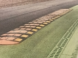 Anti-cut kerb added at exit of Parabolica