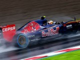 Carlos Sainz fastest in wet first practice