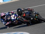 Hamilton takes a tumble on Superbike