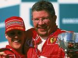 "Ross Brawn says there are ""encouraging signs"" concerning Michael Schumacher"