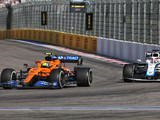 Norris limped home in damaged McLaren