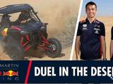 Video: One last blast - Verstappen and Albon's duel in the desert