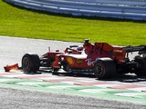 Ferrari and Leclerc penalised for staying out with damaged wing