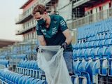 Sebastian Vettel is pushing for sustainability in Formula One, one piece of trash at a time