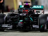 Russell fastest again for Merc on perfect first day