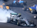 Rosberg thankful to survive first lap clash