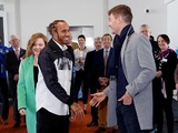 Hamilton denies rift with 'great guy' Russell